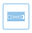 Video cassette with adult content icon vector image vector image