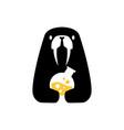 walrus laboratory labs negative space logo icon vector image