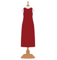 Woman dress on mannequin vector image