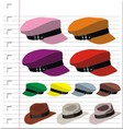 hat isolated on paper vector image