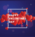 happy valentines day background vector image