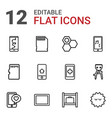 12 cell icons vector image vector image