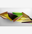 3d triangle geometric background design modern vector image vector image
