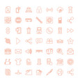 49 internet icons vector image vector image