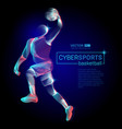 abstract basketball dribble player male figure vector image vector image