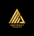 Abstract golden triangle logo icon design template
