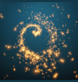 abstract swirl of glowing particles vector image vector image