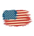 american flag in retro style vector image