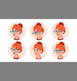 avatar icon woman human emotions vector image