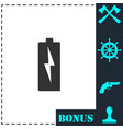 battery charging icon flat vector image