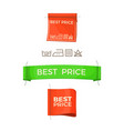best price promo logos on clothes tags set vector image vector image