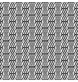 black and white geometric linear pattern vector image