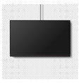 black four k monitor led tv isolated transparent vector image