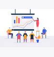 business conference - modern colorful isometric vector image