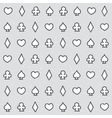 Casino pattern grey vector image vector image