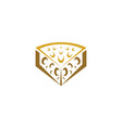 cheese logo symbol icon element vector image vector image