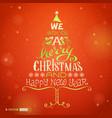 Christmas hand-written lettering vector image