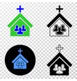church people eps icon with contour version vector image vector image