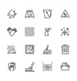 cleaning home and office outline icon simple vector image