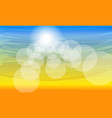 color sunny summer background vector image vector image