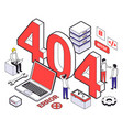 colored web hosting isometric composition vector image vector image