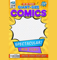 comic book cover vintage comics magazine layout vector image