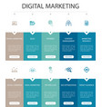 digital marketing infographic 10 option ui design vector image vector image