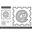 Email postcard line icon vector image vector image