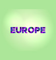 europe concept colorful word art vector image vector image