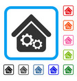 factory house framed icon vector image