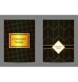 Geometric business cards vector image vector image