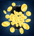 gold coins and mobile phone gambling vector image