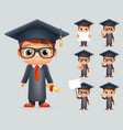 graduation cap excellent diploma certificate vector image vector image