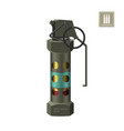 hand smoke grenade of special forces vector image vector image