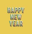 happy new year 2018 greeting card background vector image vector image