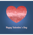 Happy Valentines Day greeting card with heart and vector image vector image