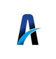 highway lane letter a swoosh symbol design vector image vector image
