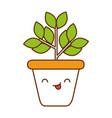 home plant kawaii character vector image