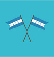 honduras flag icon in flat design vector image