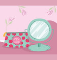 makeup cosmetics product fashion beauty cosmetic vector image vector image