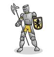 medieval warrior vector image