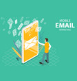 mobile email marketing and advertising campaign vector image vector image