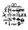 modern entertainment icons set simple style vector image vector image