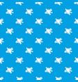 molecule biology pattern seamless blue vector image vector image