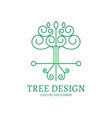 mono line logo design tree vector image
