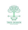 Mono Line Logo Design Tree vector image