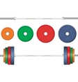 Multicolor barbell on white background vector image