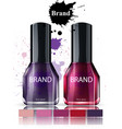 nail polish cosmetics watercolor product vector image vector image