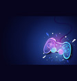 neon future game pad background vector image
