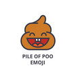 pile of poo emoji line icon sign vector image